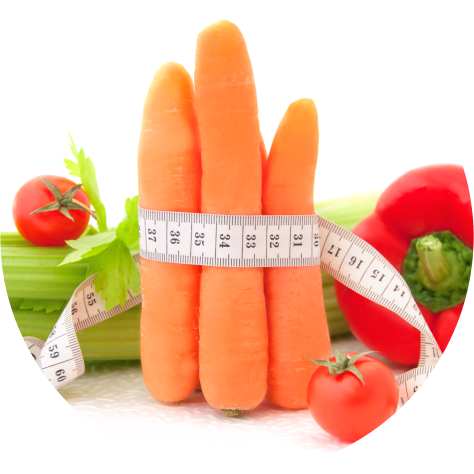 carrot and tape measure